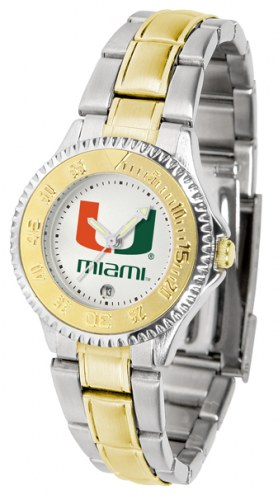 Miami Hurricanes Competitor Two-Tone Women's Watch