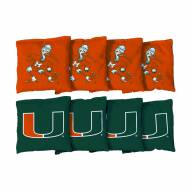 Miami Hurricanes Cornhole Bag Set