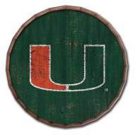 "Miami Hurricanes Cracked Color 16"" Barrel Top"