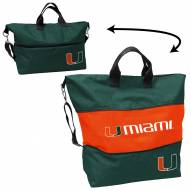 Miami Hurricanes Crosshatch Expandable Tote