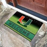 Miami Hurricanes Crumb Rubber Door Mat