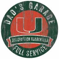 Miami Hurricanes Dad's Garage Sign