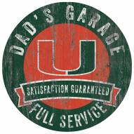 Miami Hurricanes Dad's Garage Sign