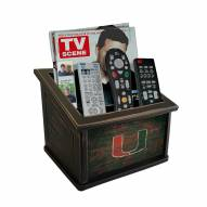 Miami Hurricanes Distressed Team Color Media Organizer