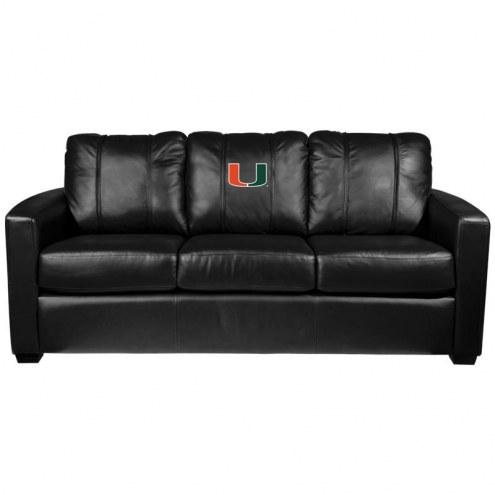 Miami Hurricanes XZipit Silver Sofa