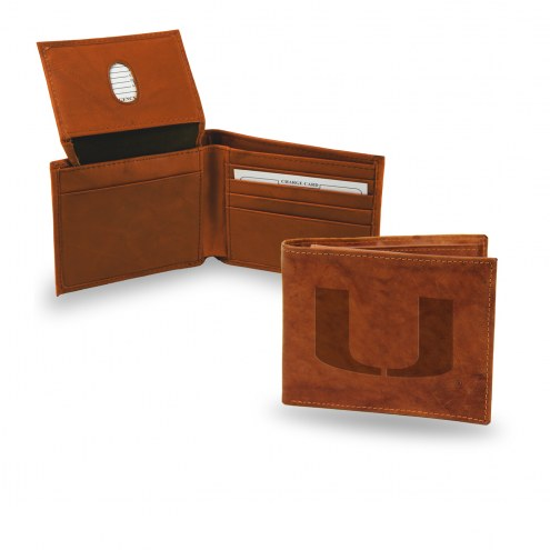 Miami Hurricanes Embossed Bi-Fold Wallet