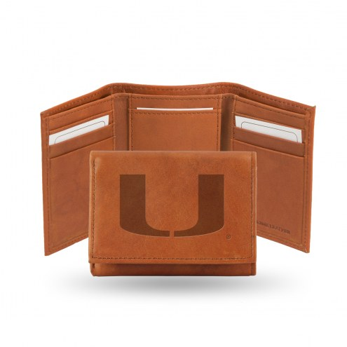 Miami Hurricanes Embossed Tri-Fold Wallet