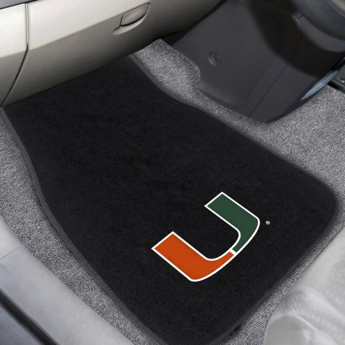 Miami Hurricanes Embroidered Car Mats
