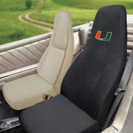 Miami Hurricanes Embroidered Car Seat Cover