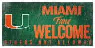 Miami Hurricanes Fans Welcome Sign
