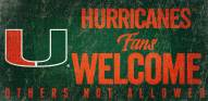 Miami Hurricanes Fans Welcome Wood Sign