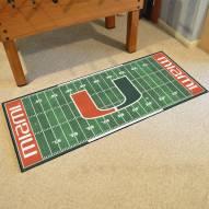 Miami Hurricanes Football Field Runner Rug
