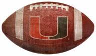 Miami Hurricanes Football Shaped Sign