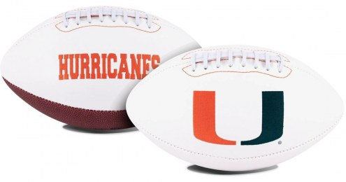 Miami Hurricanes Full Size Embroidered Signature Series Football