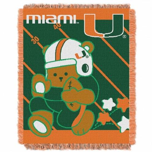 Miami Hurricanes Fullback Baby Blanket