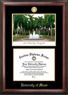 Miami Hurricanes Gold Embossed Diploma Frame with Lithograph