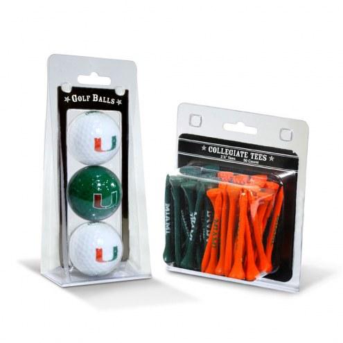 Miami Hurricanes Golf Ball & Tee Pack