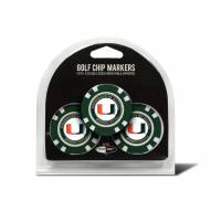 Miami Hurricanes Golf Chip Ball Markers