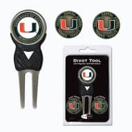 Miami Hurricanes Golf Divot Tool Pack