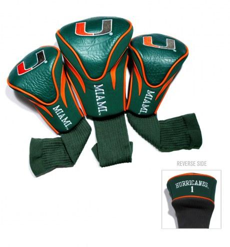 Miami Hurricanes Golf Headcovers - 3 Pack