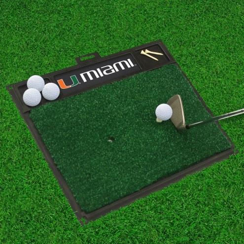 Miami Hurricanes Golf Hitting Mat