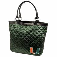 Miami Hurricanes Green NCAA Quilted Tote Bag