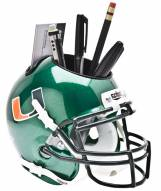 Miami Hurricanes Green Schutt Football Helmet Desk Caddy