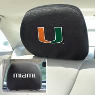 Miami Hurricanes Headrest Covers
