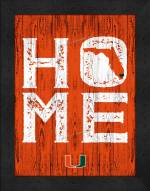 Miami Hurricanes Home Away From Home Wall Decor