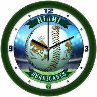 Miami Hurricanes Home Run Wall Clock