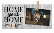 Miami Hurricanes Home Sweet Home Clothespin Frame