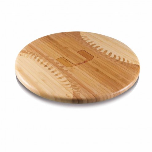 Miami Hurricanes Homerun Cutting Board