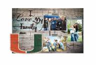 Miami Hurricanes I Love My Family Clip Frame