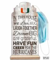 Miami Hurricanes In This House Mask Holder