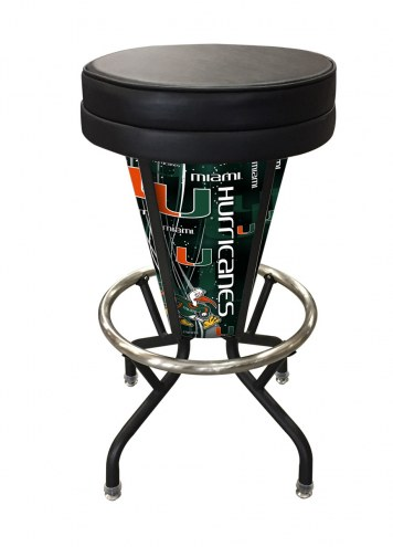 Miami Hurricanes Indoor/Outdoor Lighted Bar Stool