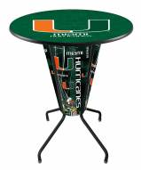 Miami Hurricanes Indoor Lighted Pub Table