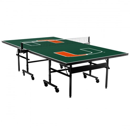 Miami Hurricanes Indoor Ping Pong Table
