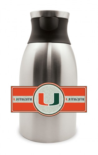 Miami Hurricanes Large Stainless Steel Coffee Pot