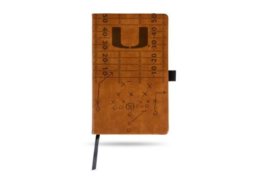 Miami Hurricanes Laser Engraved Brown Notepad