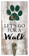 Miami Hurricanes Leash Holder Sign