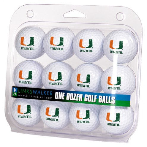 Miami Hurricanes Dozen Golf Balls