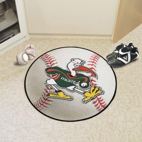 Miami Hurricanes Logo Baseball Rug
