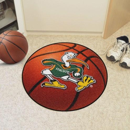 Miami Hurricanes Logo Basketball Mat