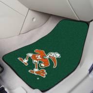 Miami Hurricanes Logo 2-Piece Carpet Car Mats