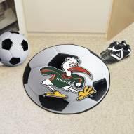 Miami Hurricanes Logo Soccer Ball Mat