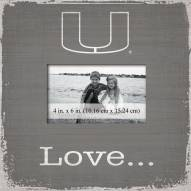 Miami Hurricanes Love Picture Frame