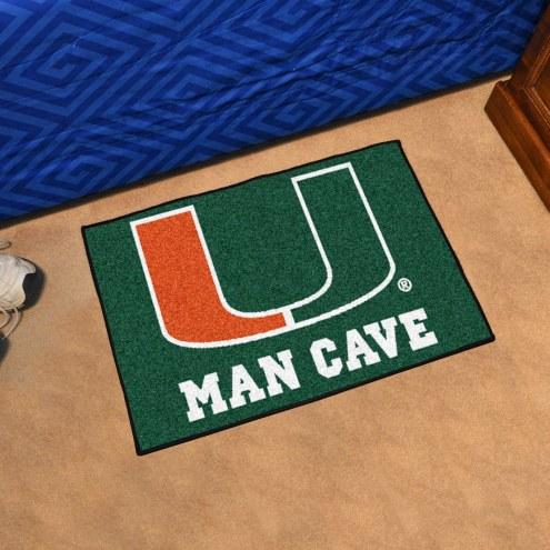 Miami Hurricanes Man Cave Starter Mat