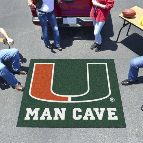 Miami Hurricanes Man Cave Tailgate Mat