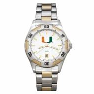 Miami Hurricanes Men's All-Pro Two-Tone Watch
