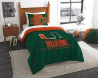 Miami Hurricanes Modern Take Twin Comforter Set